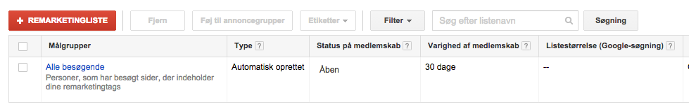 remarketing på adwords