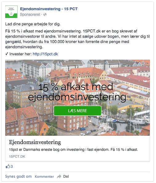 facebook annonce for ejendomsinvestering